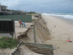 Beach erosion at North Entrance NSW.  Photo Neil Kelleher OEH